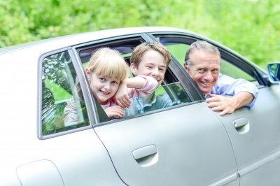 driving car with kids